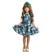 Vestido Infantil Feminino Estampado Matinée