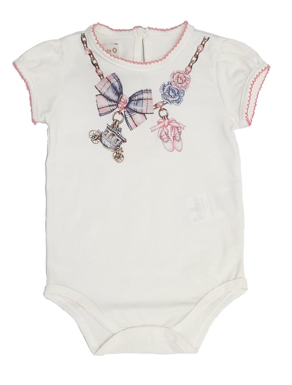 Conjunto Infantil Bebê de Body com Saia Rosa Matinée