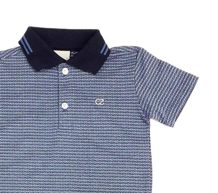 Conjunto Infantil Camisa Polo com Bermuda Jeans Club Z