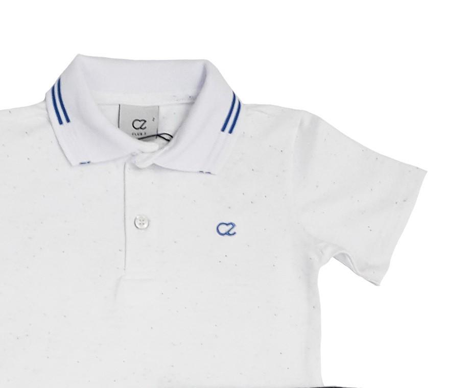 Conjunto Infantil Camisa Polo com Bermuda Preta Club Z