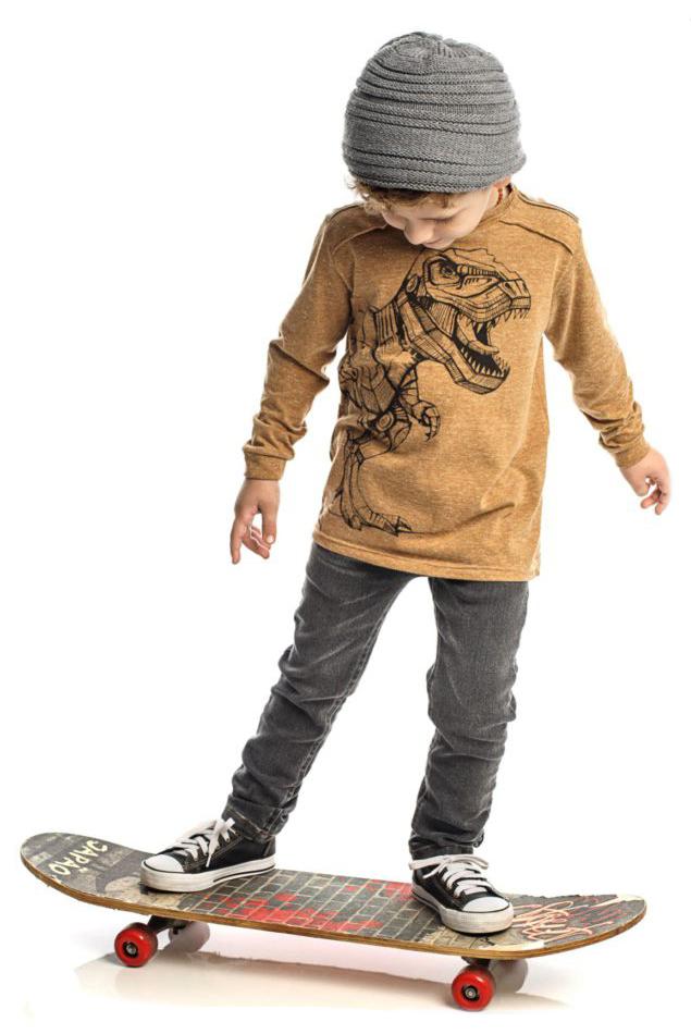 Conjunto Infantil de Camiseta Dinossauro + Calça Jeans ClubZ
