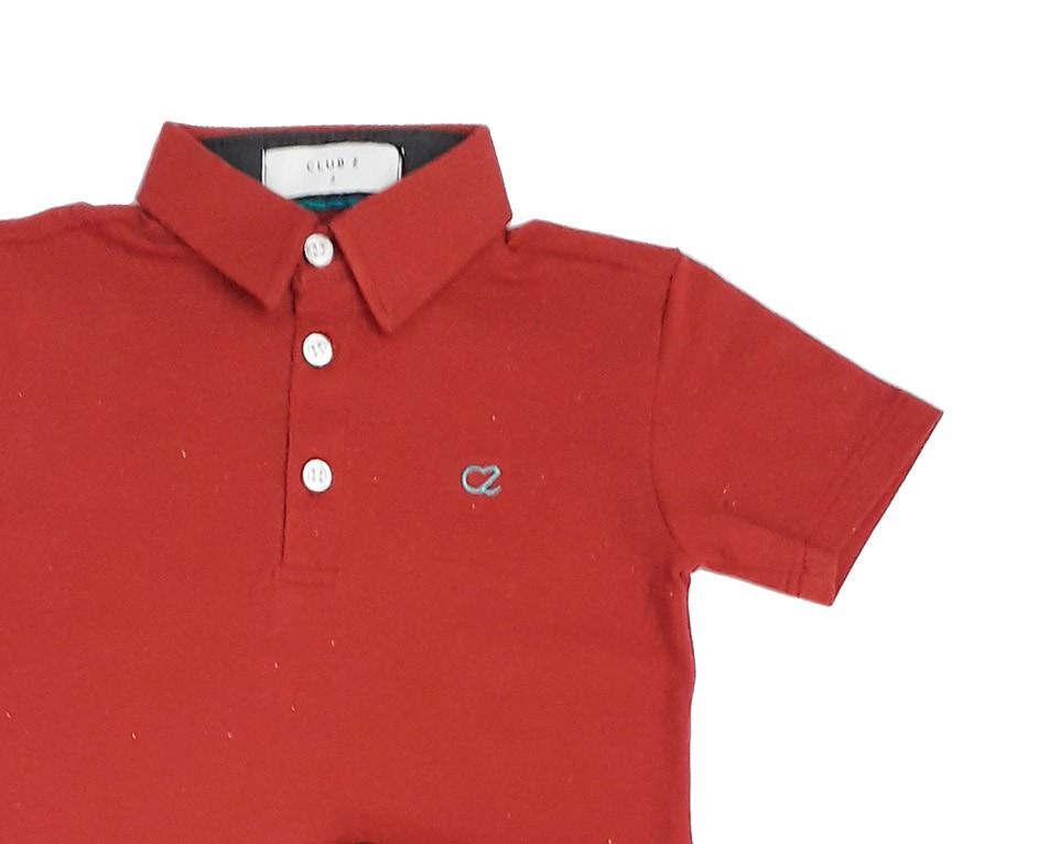 Conjunto Infantil de Polo Vermelha com Bermuda Jeans Club Z