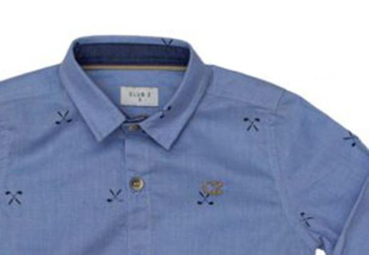 Conjunto Infantil Masculino Camisa Azul e Calça Club Z