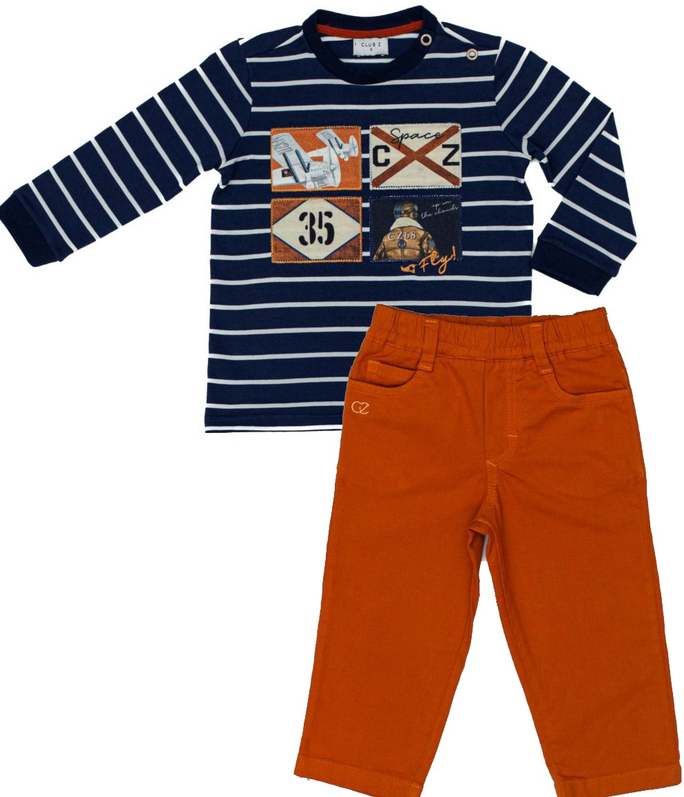Conjunto Infantil Masculino Camiseta  e Calça Sarja Club Z