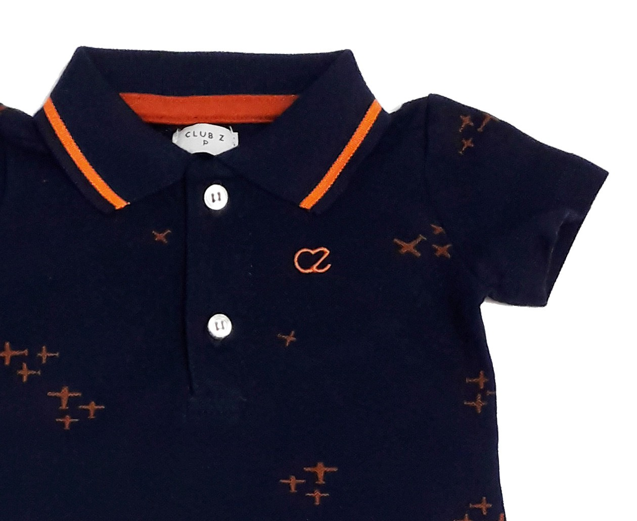 Conjunto Infantil Masculino Polo Marinho e Calça Club Z
