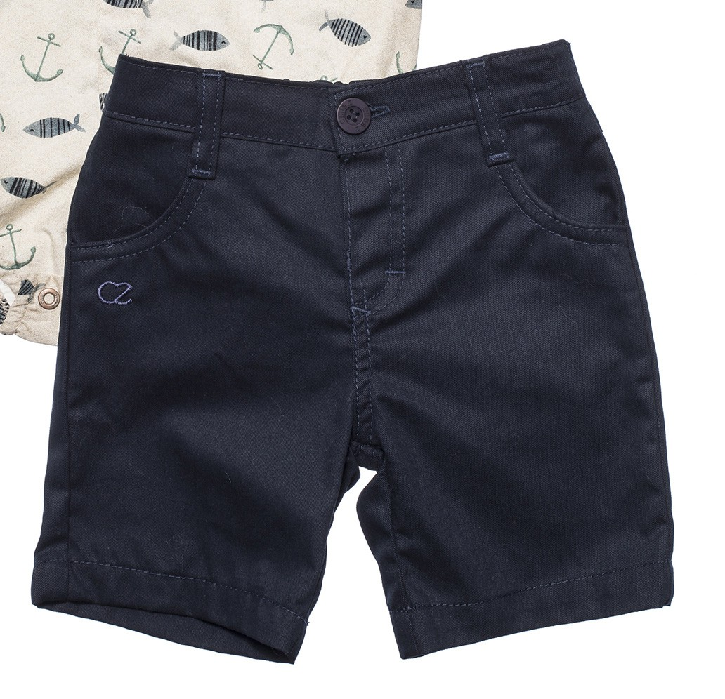 Roupa Infantil  Conjunto Camisa Body com Bermuda Club Z