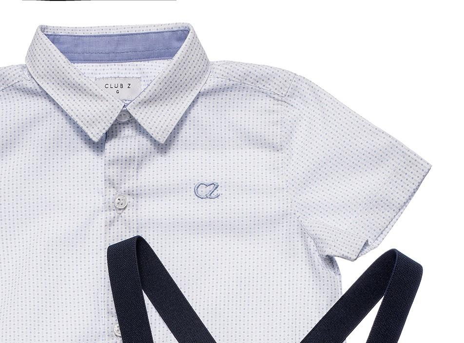 Roupa Infantil Masculina Conjunto Camisa com Bermuda Club Z