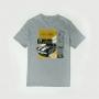 Camiseta Masc. Chevrolet Camaro V8 Blueprint - Cinza Mescla