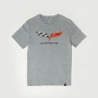 Camiseta Chevrolet Corvette Flag - Cinza Mescla