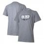 Camiseta Masc. Chevrolet S-10 Badge - Cinza Mescla