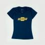 Camiseta Fem. Chevrolet Classics Logo - Azul Oceano