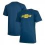 Camiseta Masc. Chevrolet Classics Logo - Azul Oceano