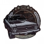 Placa de Madeira Chevrolet - Opala - Marrom