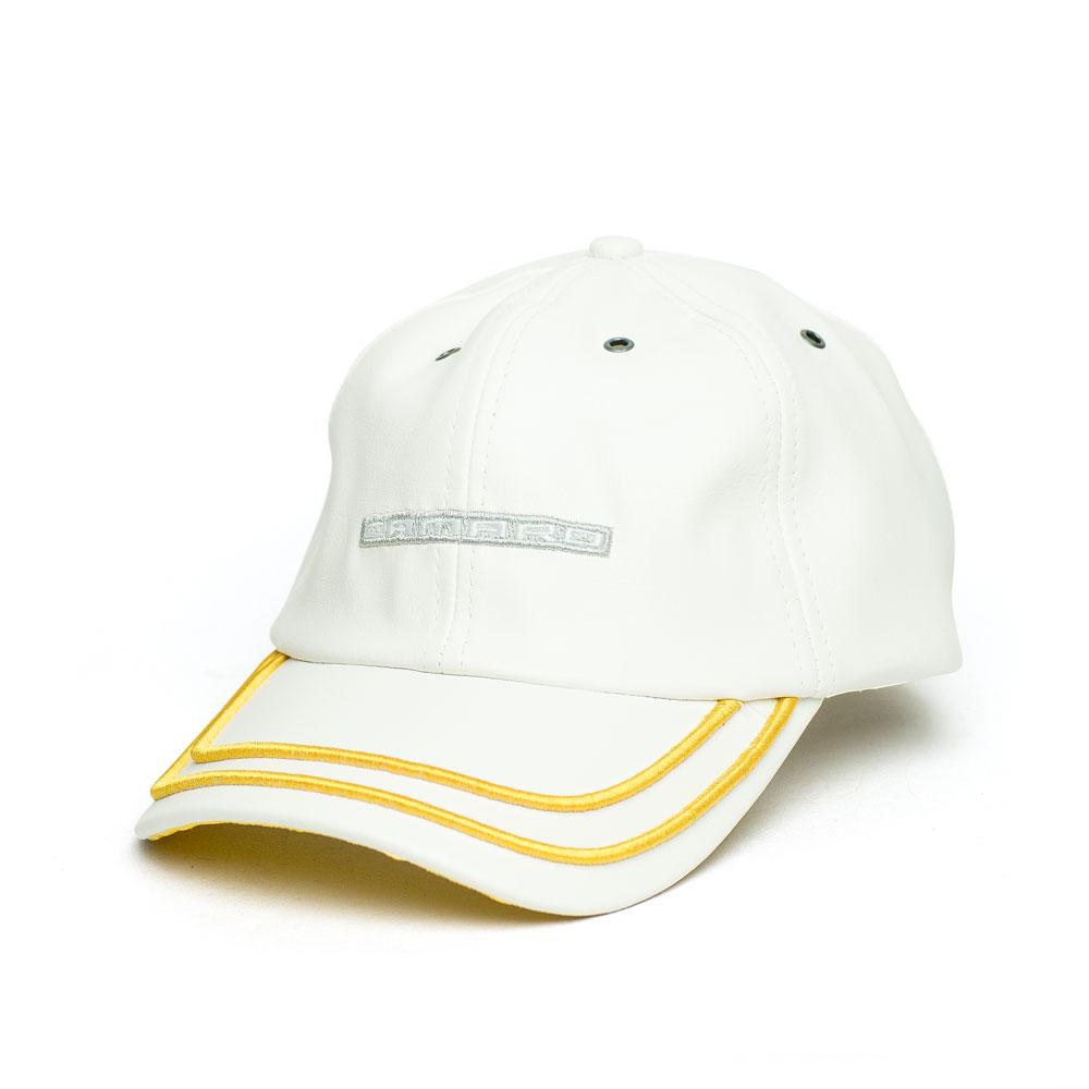 Boné Dad Hat Chevrolet Camaro Sign Couro PU - Branco