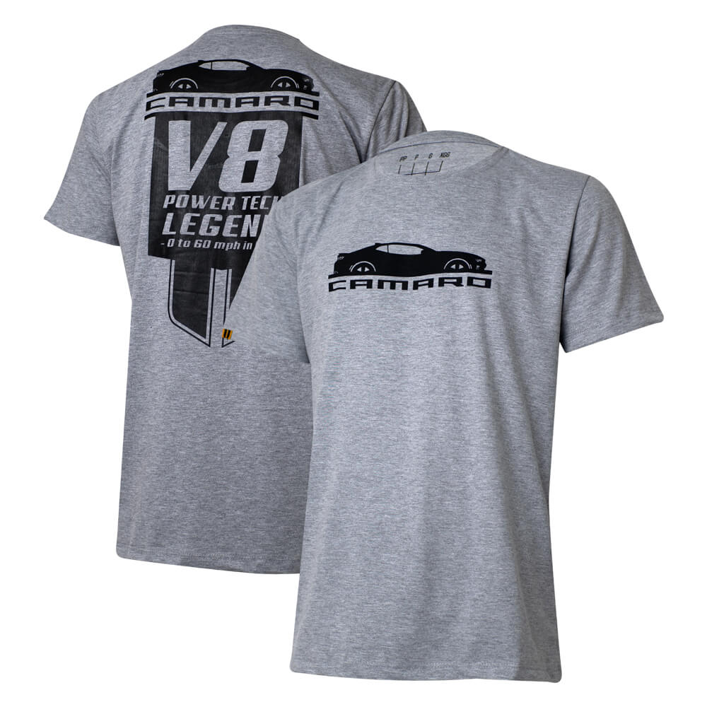 Camiseta Masc. Chevrolet Camaro Legend - Cinza Mescla