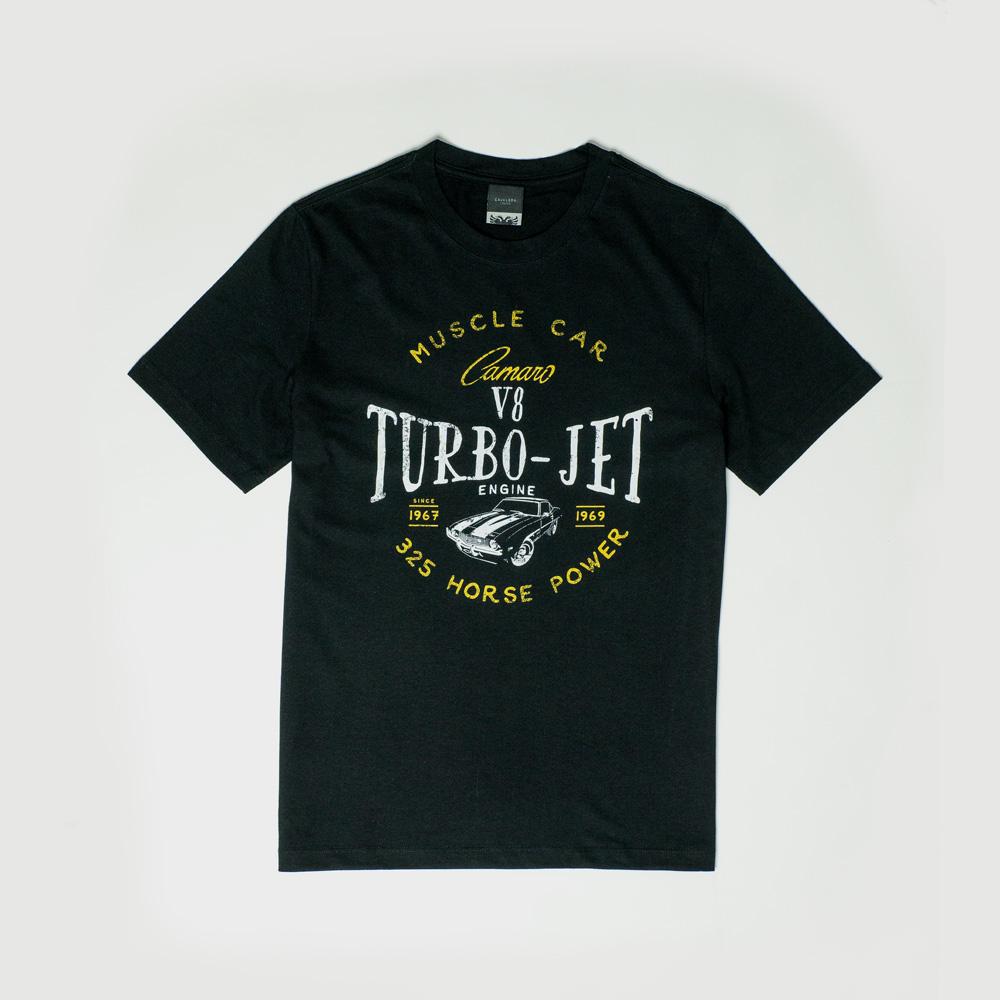 Camiseta Masc. Chevrolet|Cavalera Camaro Turbo Jet - Preto