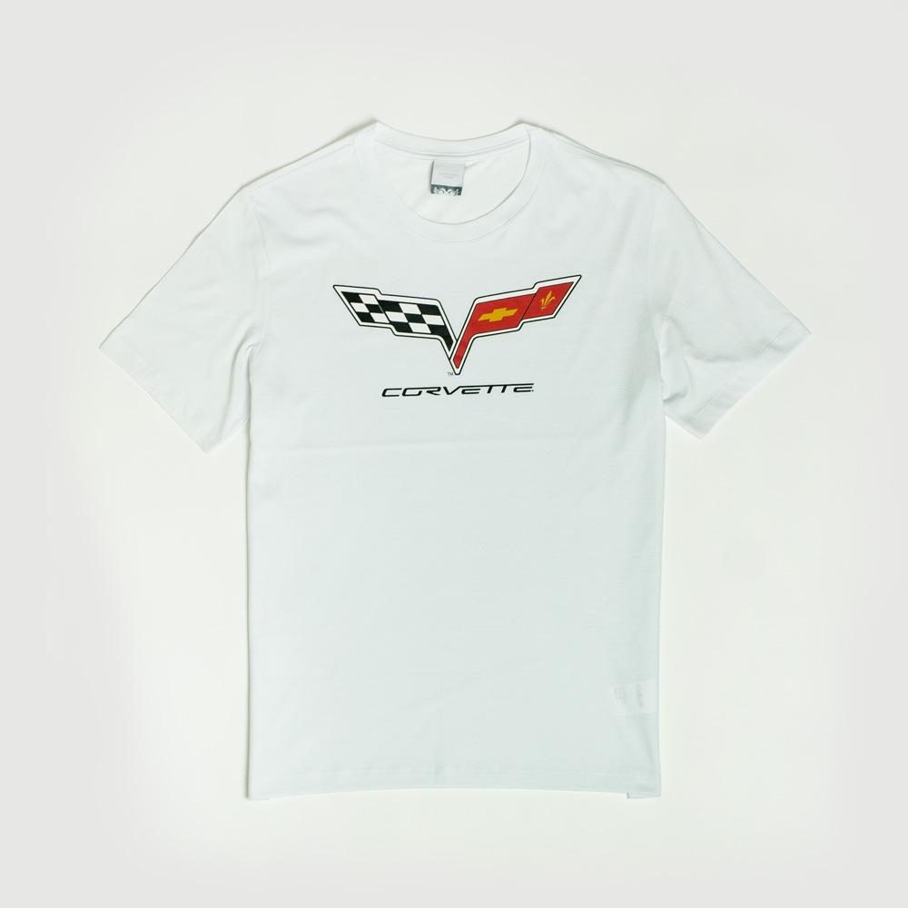 Camiseta Masc. Chevrolet|Cavalera Ctorvete Flag - Branco