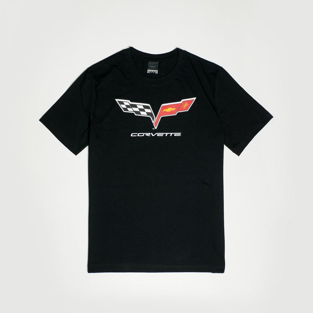 Camiseta Masc. Chevrolet|Cavalera  Flag - Preto