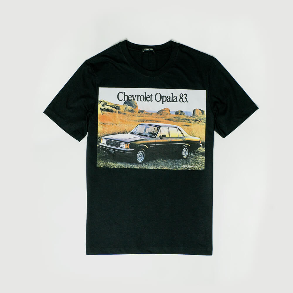 Camiseta Chevrolet Classics Opala 83 - Preto