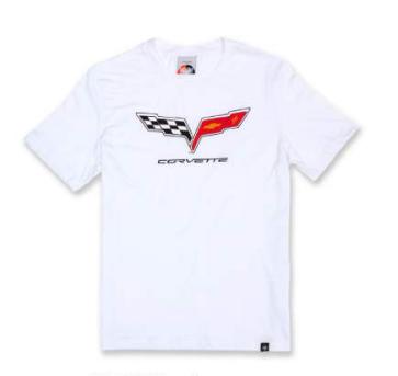 Camiseta Chevrolet Corvette Flag - Branco