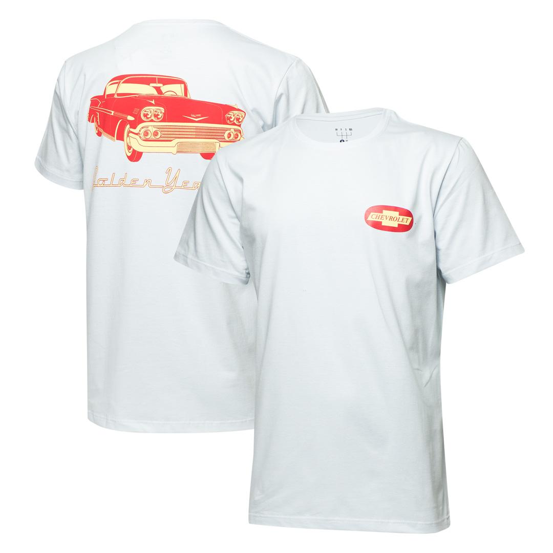 Camiseta Masc. Chevrolet Golden Years - Branca