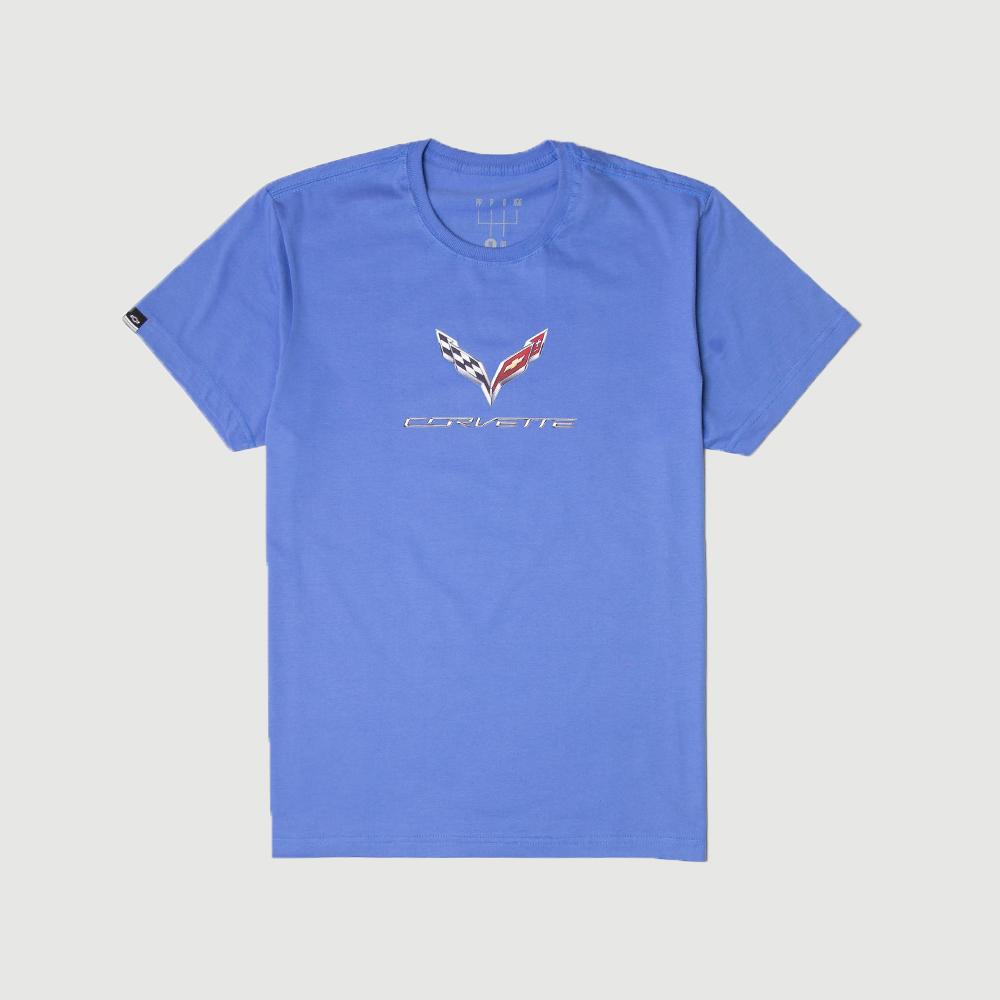 Camiseta DTG Chevrolet Corvette Features - Azul