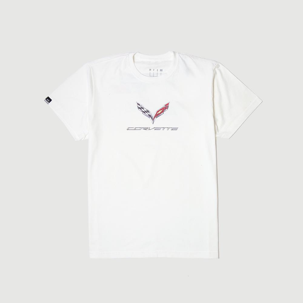 Camiseta DTG Chevrolet - Corvette - Features - Off White