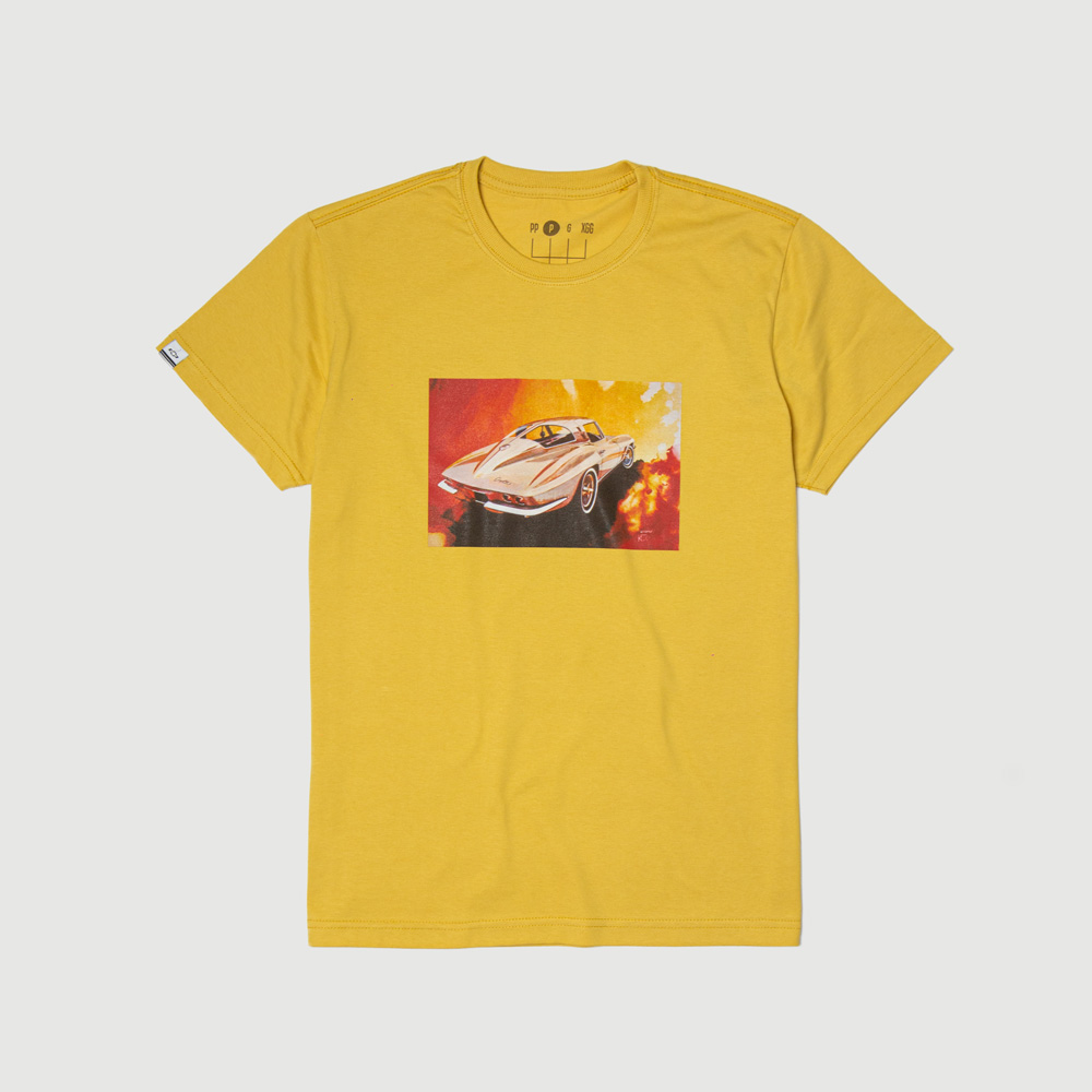 Camiseta DTG Chevrolet Corvette Stingray - Mostarda