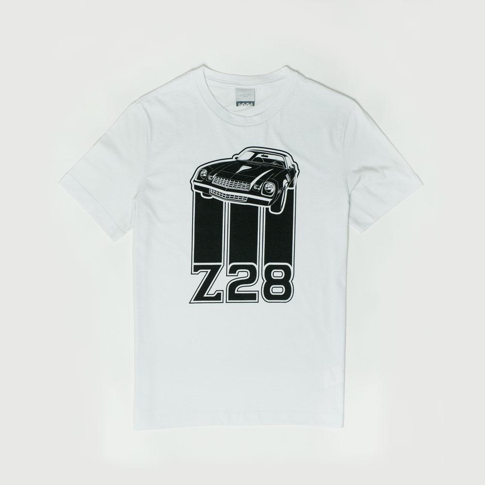 Camiseta Masc. Chevrolet|Cavalera Camaro Z28 - Branca