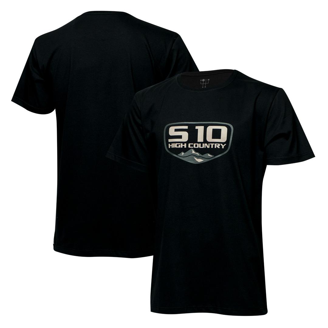 Camiseta Masc. Chevrolet S-10 Badge - Preta