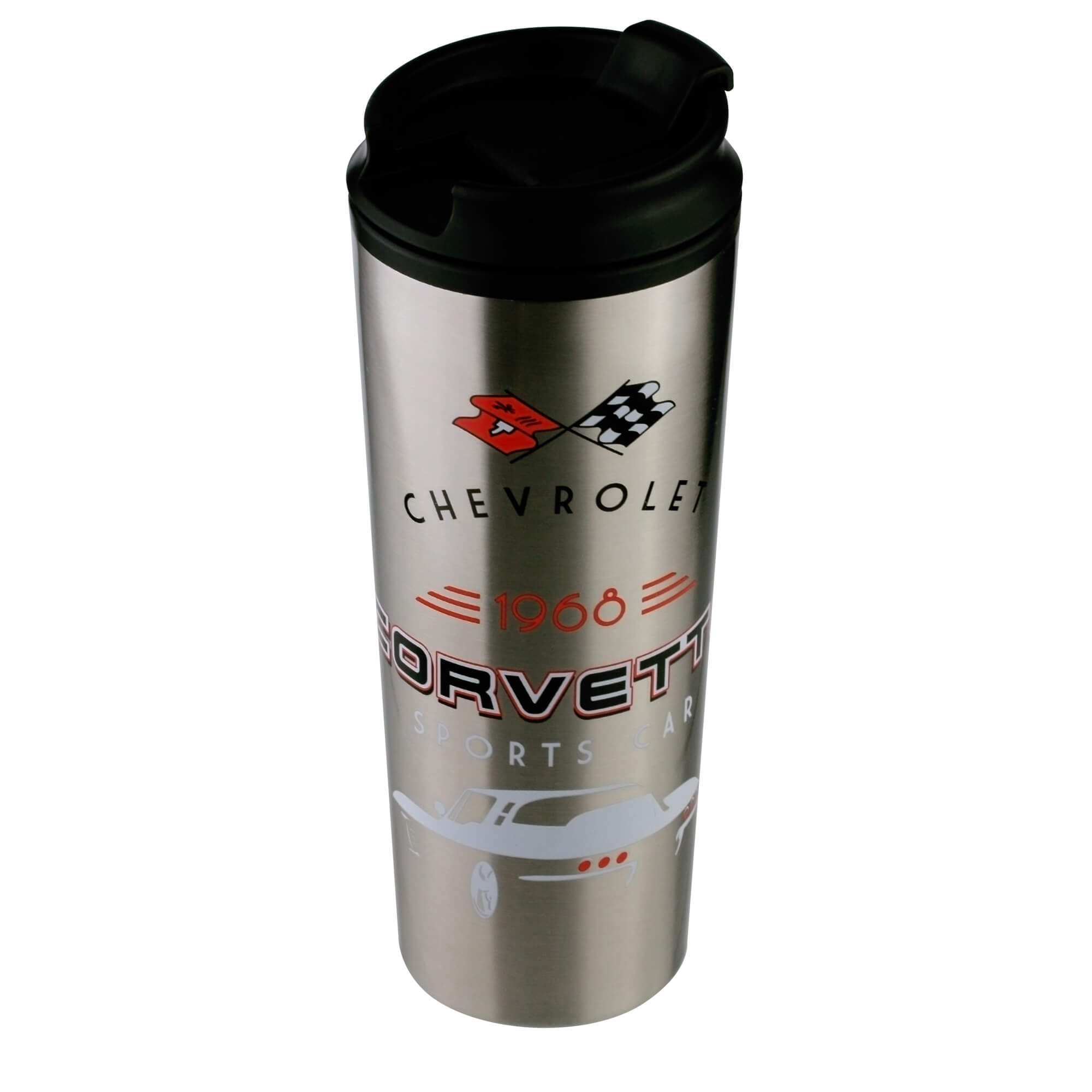 Copo Térmico de Plástico Chevrolet - Corvette - Cinza - 500 ml