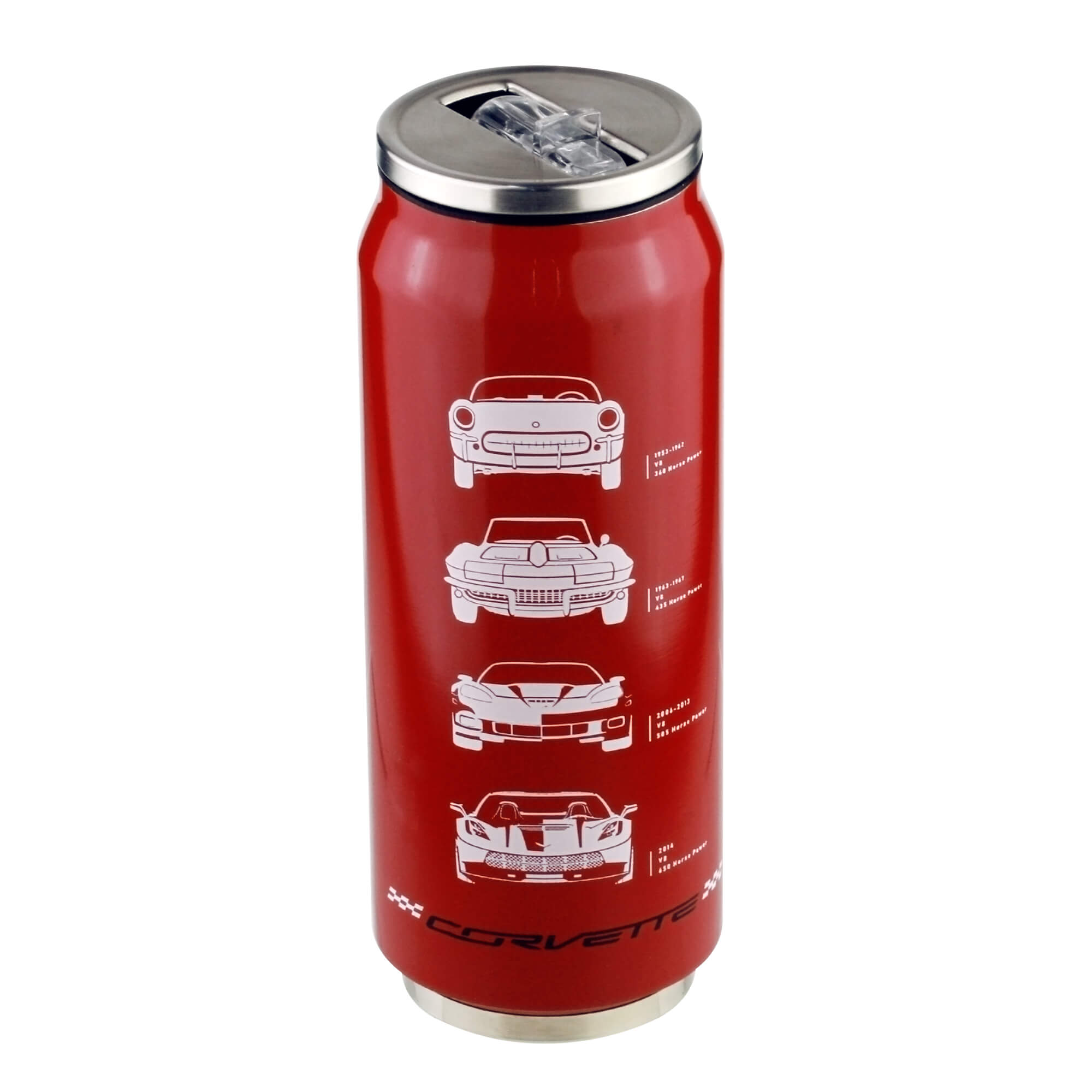Copo Térmico Inox Chevrolet - Corvette - Vermelho - 473 ml