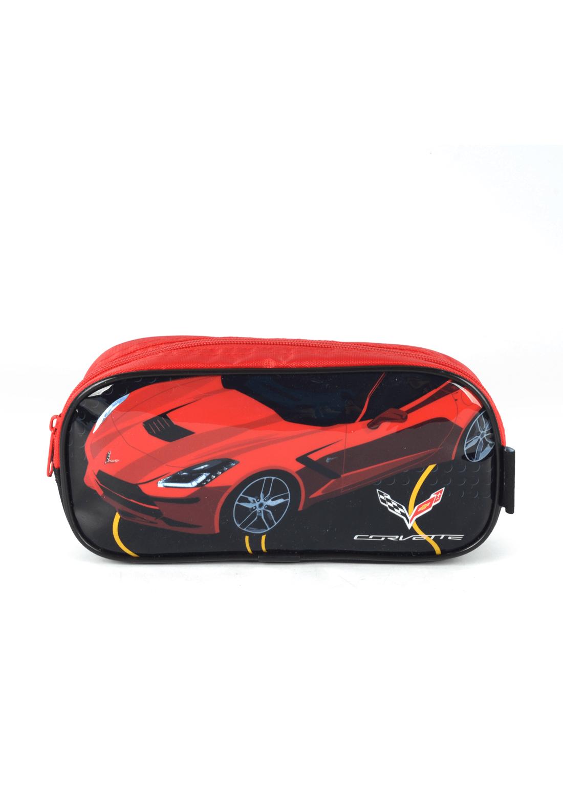 Estojo Infantil Chevrolet - Corvette - Preto / Vermelho