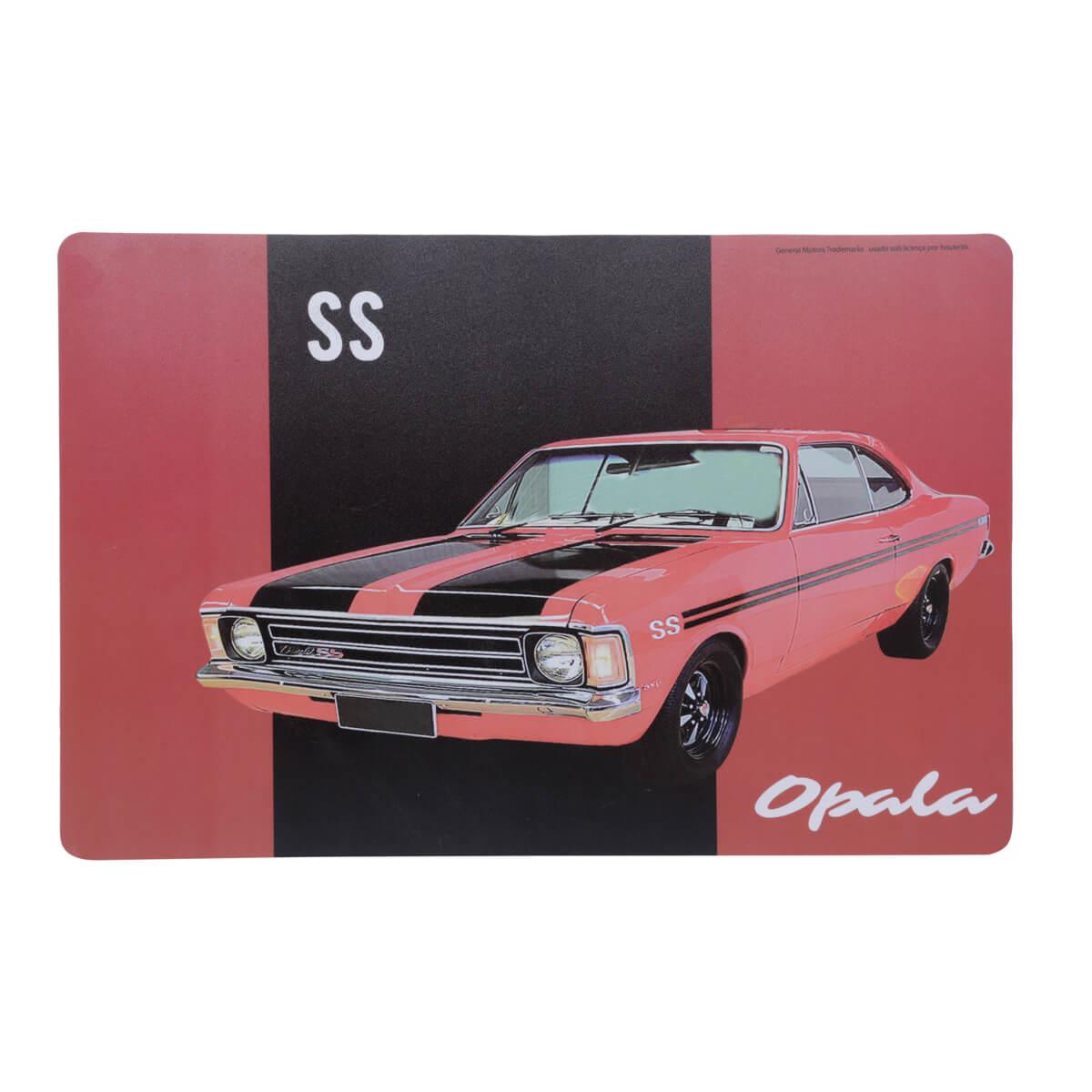 Jogo Americano Chevrolet - Opala Vintage - Vermelho / Preto