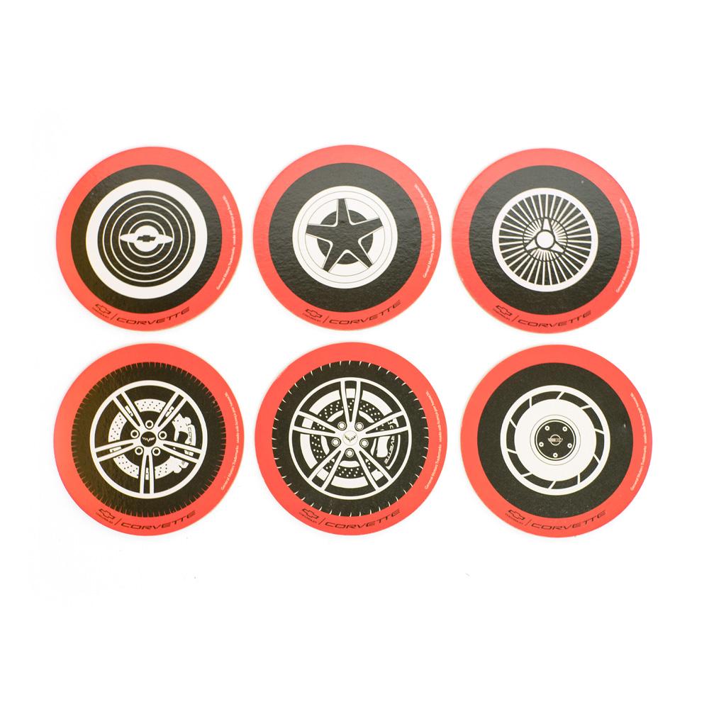 Jogo de Porta Copos Sortidos de Cortiça Chevrolet - Wheels