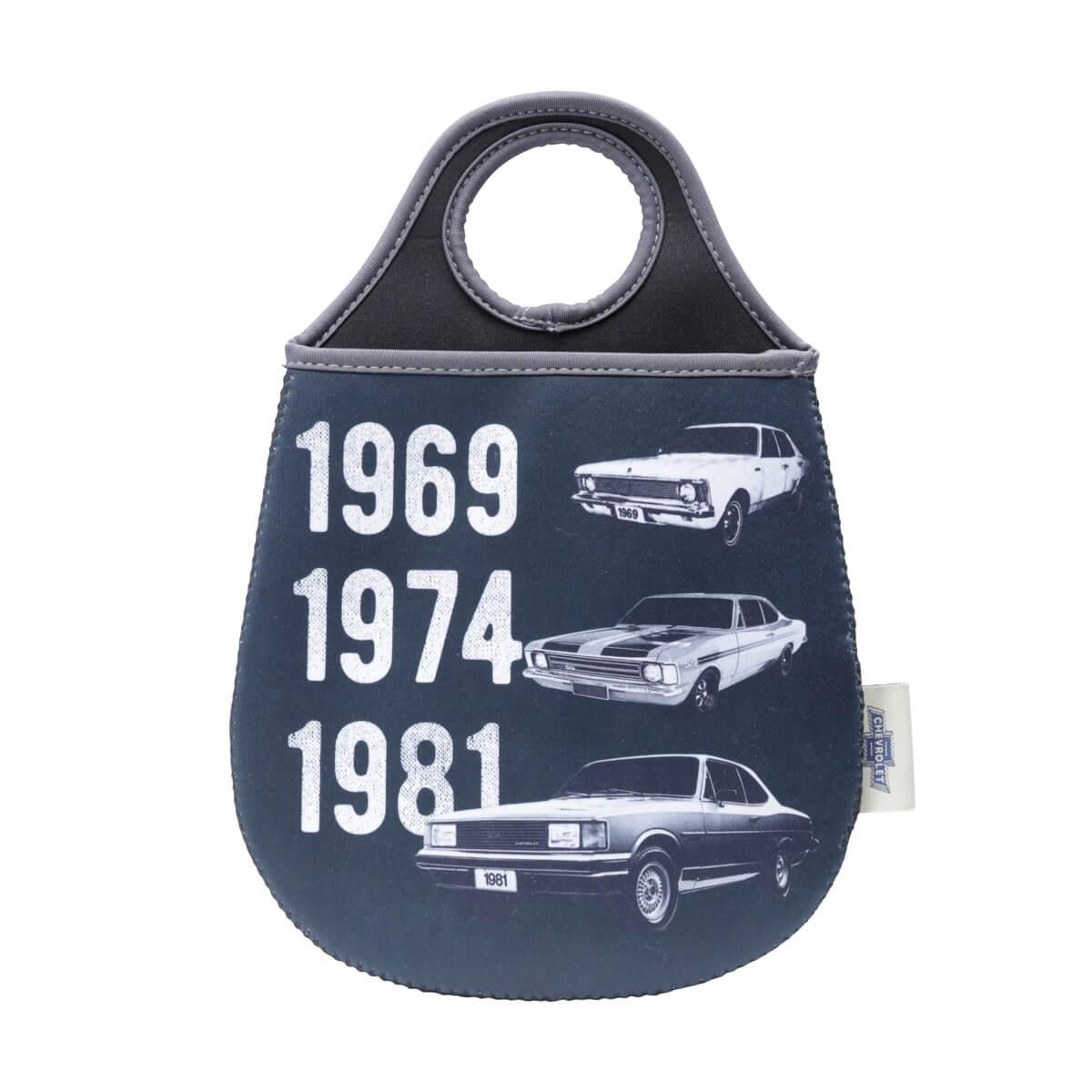 Lixeira de Carro Neoprene Chevrolet - Opala Evolution - Preto