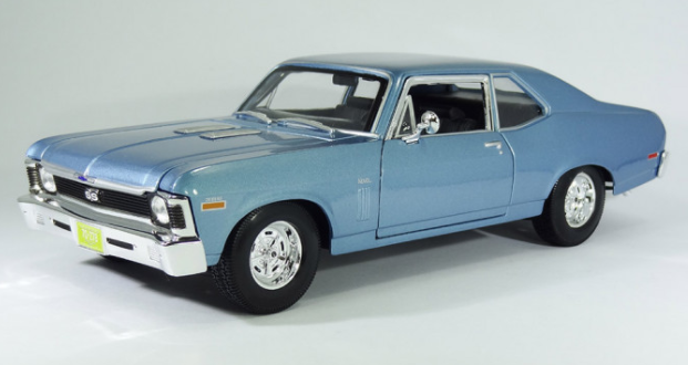 Miniatura Chevrolet Bel Air 1962 1:18 - Azul
