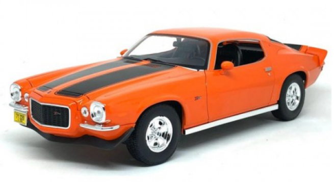 Miniatura Chevrolet Camaro 1971 1:18 - Laranja