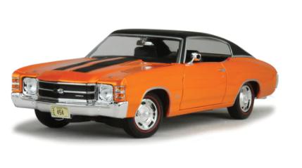 Miniatura Chevrolet Chevelle SS 454 Coupe 1:18 - Laranja