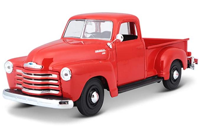 Miniatura Chevrolet Chevy 1950 3100 Pick-up 1:24 - Vermelho
