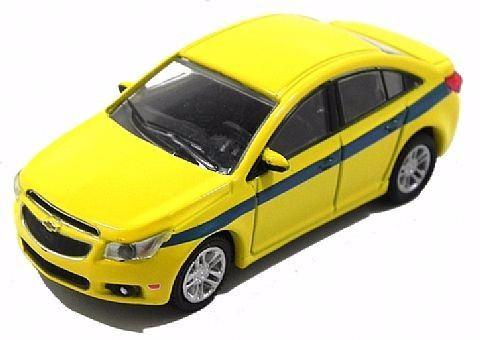 Miniatura Chevrolet Collectibles Cruze 1:64 - Táxi RJ - Amarelo