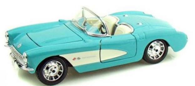 Miniatura Chevrolet Corvette 1953 1:24 - Verde Água
