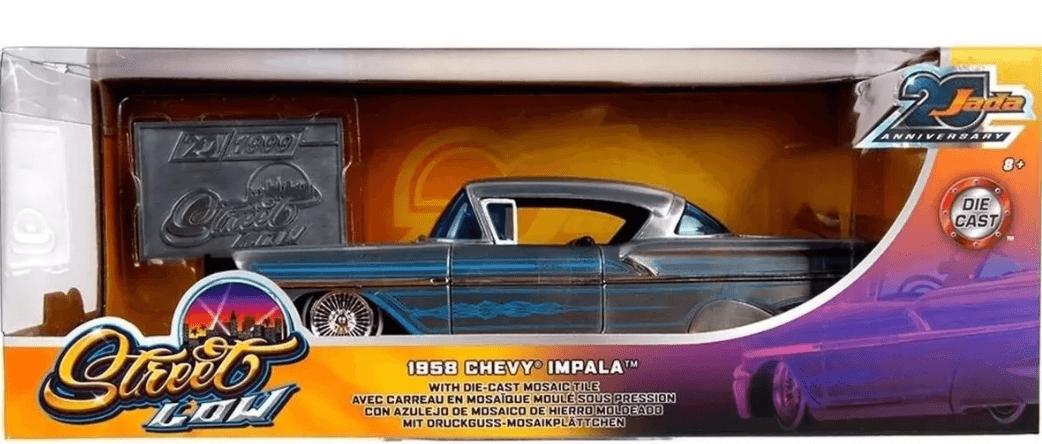 Miniatura Chevrolet Impala 1958 Streetflow 1:24 - Prata