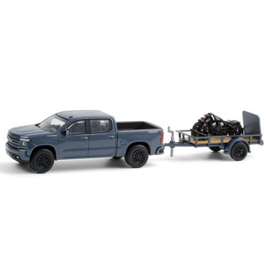 Miniatura Chevrolet Silverado - Hitch and Tow - 1:64 - Azul Escuro