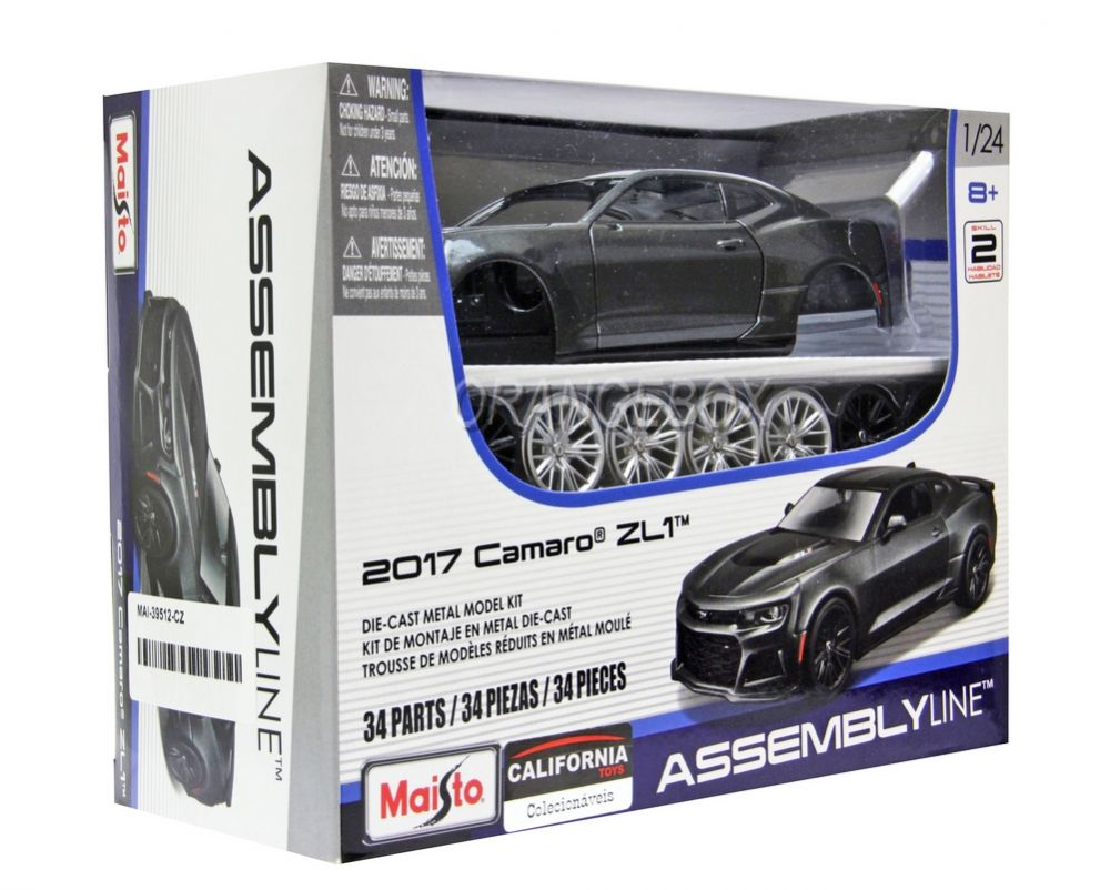 Miniatura para Montar Chevrolet Camaro ZL1 2017 1:24 - Preto
