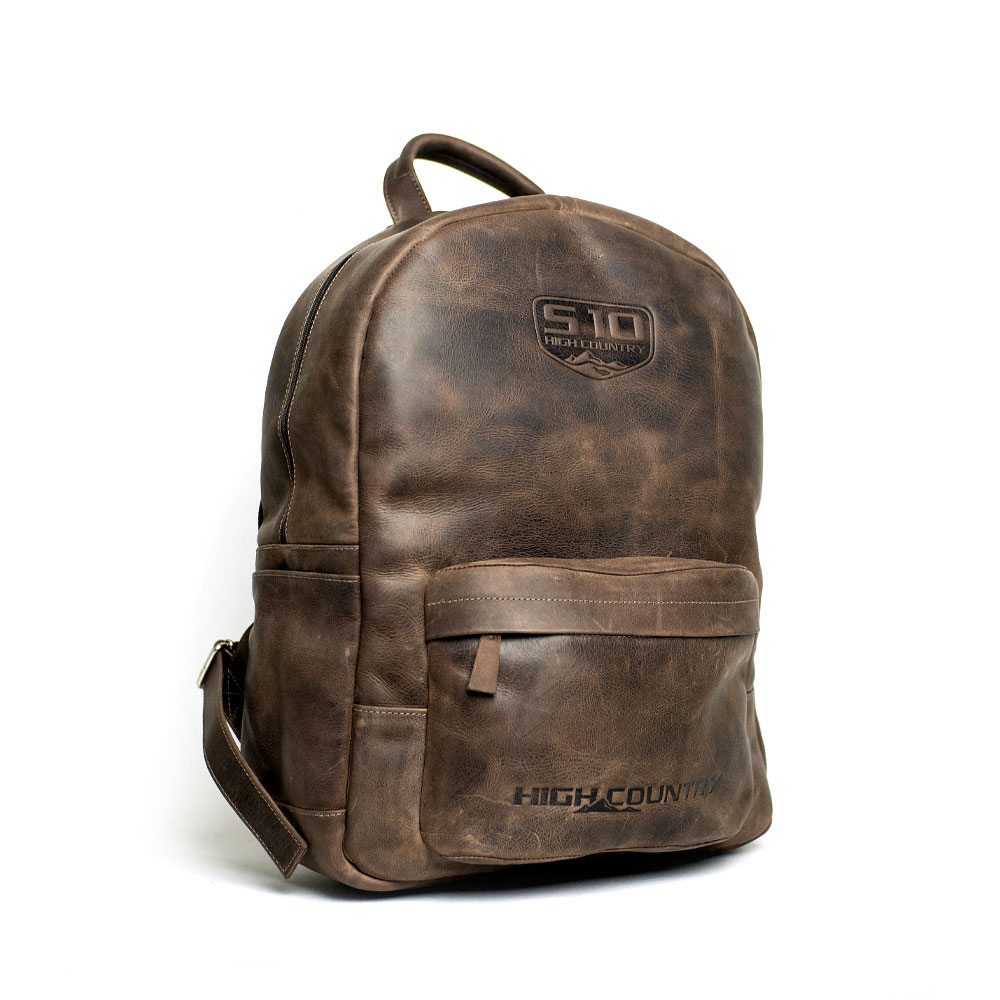 Mochila de Couro Chevrolet All Day Use - S-10 - Crazy Horse Café