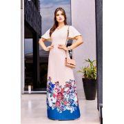 Vestido Helen Barrado Azul