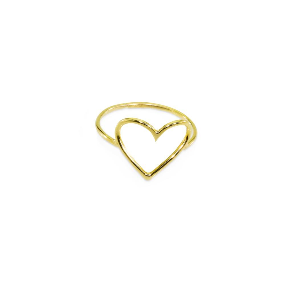Anel Coração Ouro 416