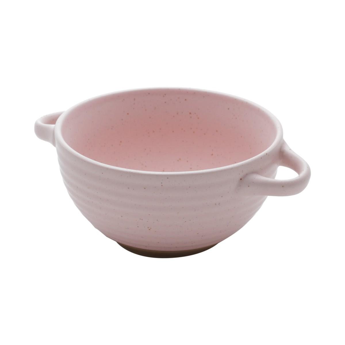 Bowl Cerâmica com alça Romance Rosa