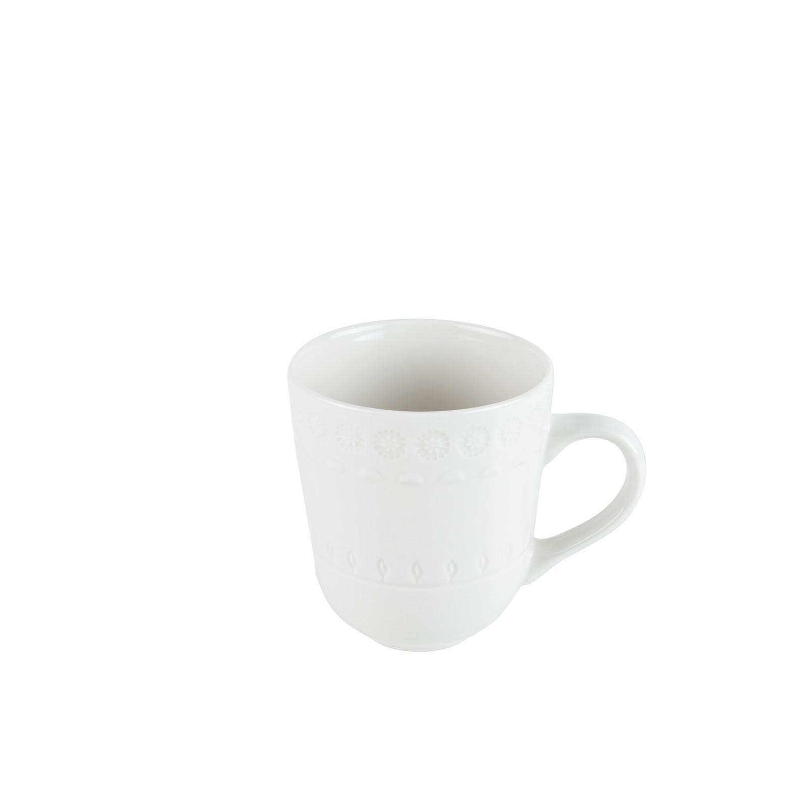 Caneca de Porcelana Grace Branco